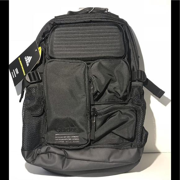 Adidas All Roads Black Hydroshield Backpack NWT 6bb6801cfc25c